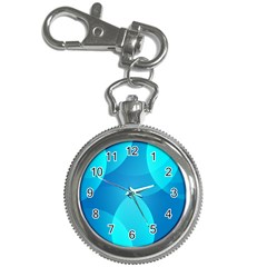 Abstract Blue Wallpaper Wave Key Chain Watches by Nexatart