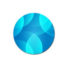 Abstract Blue Wallpaper Wave Magnet 3  (round)