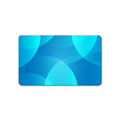 Abstract Blue Wallpaper Wave Magnet (name Card)