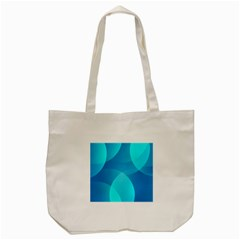 Abstract Blue Wallpaper Wave Tote Bag (cream) by Nexatart