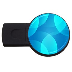Abstract Blue Wallpaper Wave Usb Flash Drive Round (4 Gb) by Nexatart