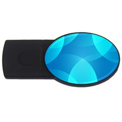Abstract Blue Wallpaper Wave Usb Flash Drive Oval (4 Gb) by Nexatart
