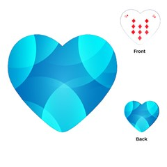 Abstract Blue Wallpaper Wave Playing Cards (heart)