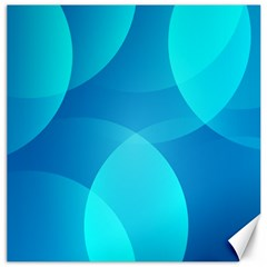 Abstract Blue Wallpaper Wave Canvas 16  X 16   by Nexatart