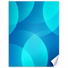 Abstract Blue Wallpaper Wave Canvas 18  X 24   by Nexatart