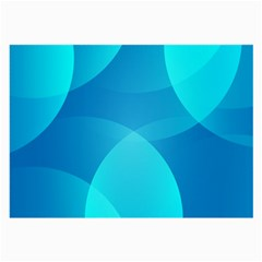 Abstract Blue Wallpaper Wave Large Glasses Cloth