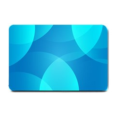 Abstract Blue Wallpaper Wave Small Doormat