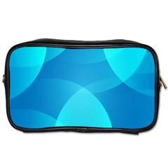 Abstract Blue Wallpaper Wave Toiletries Bags