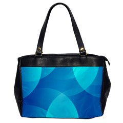 Abstract Blue Wallpaper Wave Office Handbags by Nexatart