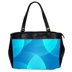 Abstract Blue Wallpaper Wave Office Handbags (2 Sides)  by Nexatart