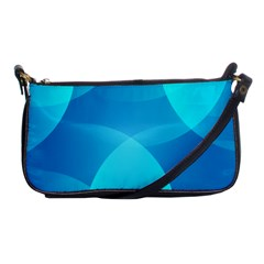 Abstract Blue Wallpaper Wave Shoulder Clutch Bags by Nexatart