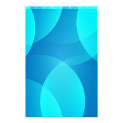 Abstract Blue Wallpaper Wave Shower Curtain 48  X 72  (small)
