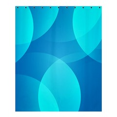 Abstract Blue Wallpaper Wave Shower Curtain 60  X 72  (medium)  by Nexatart