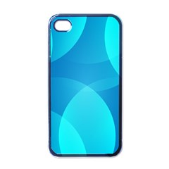 Abstract Blue Wallpaper Wave Apple Iphone 4 Case (black)