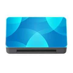 Abstract Blue Wallpaper Wave Memory Card Reader With Cf by Nexatart