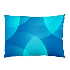 Abstract Blue Wallpaper Wave Pillow Case (two Sides) by Nexatart