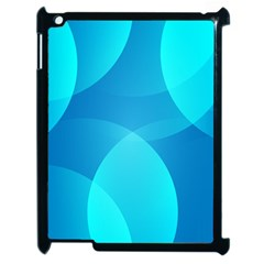 Abstract Blue Wallpaper Wave Apple Ipad 2 Case (black) by Nexatart