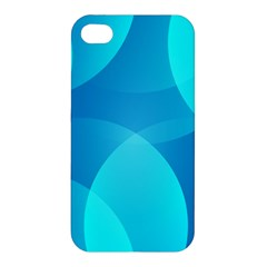 Abstract Blue Wallpaper Wave Apple Iphone 4/4s Hardshell Case by Nexatart