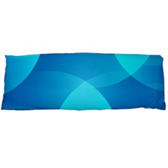 Abstract Blue Wallpaper Wave Body Pillow Case Dakimakura (two Sides)