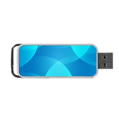 Abstract Blue Wallpaper Wave Portable Usb Flash (two Sides) by Nexatart