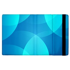 Abstract Blue Wallpaper Wave Apple Ipad 2 Flip Case by Nexatart