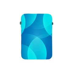 Abstract Blue Wallpaper Wave Apple Ipad Mini Protective Soft Cases by Nexatart