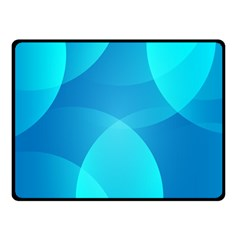 Abstract Blue Wallpaper Wave Double Sided Fleece Blanket (small)