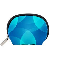 Abstract Blue Wallpaper Wave Accessory Pouches (small)