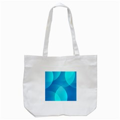 Abstract Blue Wallpaper Wave Tote Bag (white) by Nexatart