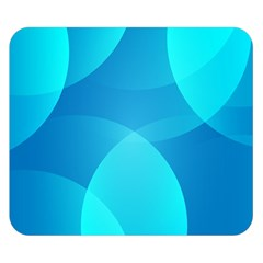 Abstract Blue Wallpaper Wave Double Sided Flano Blanket (small)  by Nexatart