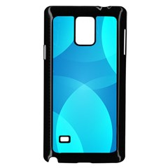 Abstract Blue Wallpaper Wave Samsung Galaxy Note 4 Case (black)