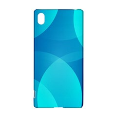 Abstract Blue Wallpaper Wave Sony Xperia Z3+ by Nexatart