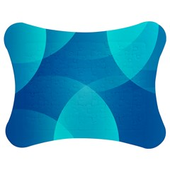 Abstract Blue Wallpaper Wave Jigsaw Puzzle Photo Stand (bow)