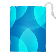 Abstract Blue Wallpaper Wave Drawstring Pouches (xxl) by Nexatart