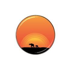 Elephant Baby Elephant Wildlife Hat Clip Ball Marker (4 Pack)