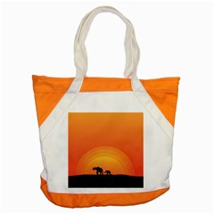 Elephant Baby Elephant Wildlife Accent Tote Bag by Nexatart