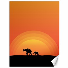 Elephant Baby Elephant Wildlife Canvas 36  X 48   by Nexatart