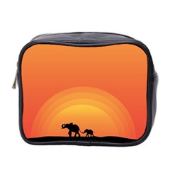 Elephant Baby Elephant Wildlife Mini Toiletries Bag 2 Side