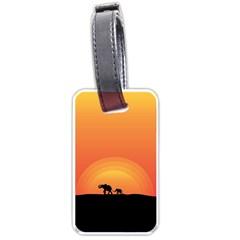 Elephant Baby Elephant Wildlife Luggage Tags (one Side)  by Nexatart