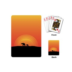 Elephant Baby Elephant Wildlife Playing Cards (mini)  by Nexatart