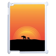 Elephant Baby Elephant Wildlife Apple Ipad 2 Case (white)
