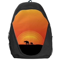 Elephant Baby Elephant Wildlife Backpack Bag