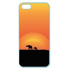 Elephant Baby Elephant Wildlife Apple Seamless Iphone 5 Case (color)