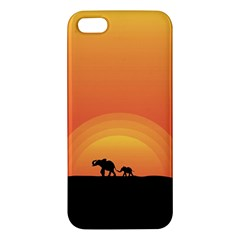 Elephant Baby Elephant Wildlife Apple Iphone 5 Premium Hardshell Case