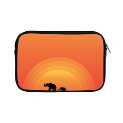 Elephant Baby Elephant Wildlife Apple Ipad Mini Zipper Cases