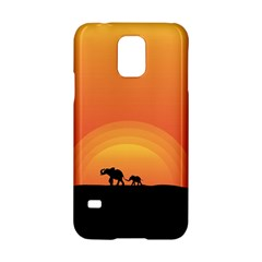 Elephant Baby Elephant Wildlife Samsung Galaxy S5 Hardshell Case  by Nexatart