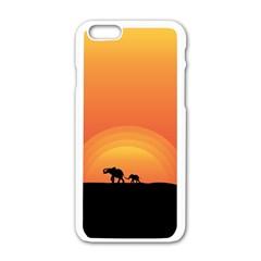 Elephant Baby Elephant Wildlife Apple Iphone 6/6s White Enamel Case