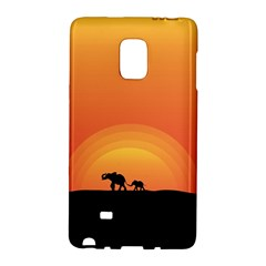 Elephant Baby Elephant Wildlife Galaxy Note Edge by Nexatart