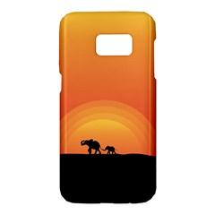 Elephant Baby Elephant Wildlife Samsung Galaxy S7 Hardshell Case