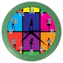 Girls Fashion Fashion Girl Young Color Wall Clocks by Nexatart